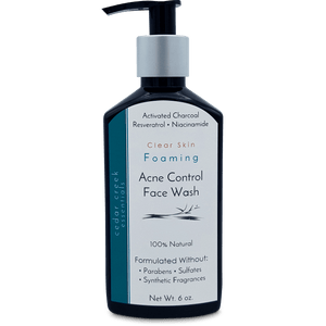 Acne Control Face Wash with Activated Charcoal & Resveratrol - Natural Skin Care - Cedar Creek Essentials