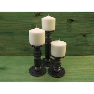 Cool Pillar Candle Holders Cedar Creek Essentials Steampunk Decor-Cedar Creek Essentials