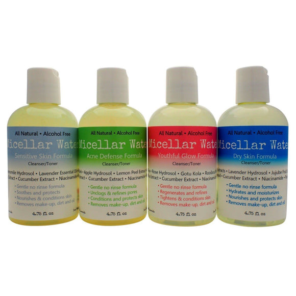 Natural Micellar Water - Make Up Remover - Skin Toner, Acne, Anti-aging, and Sensitive Skin Formulas-Cedar Creek Essentials