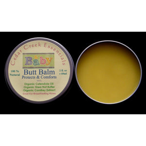 Organic Baby Butt Balm, All Natural Diaper Rash and Thrush Cream Skin Care-Cedar Creek Essentials
