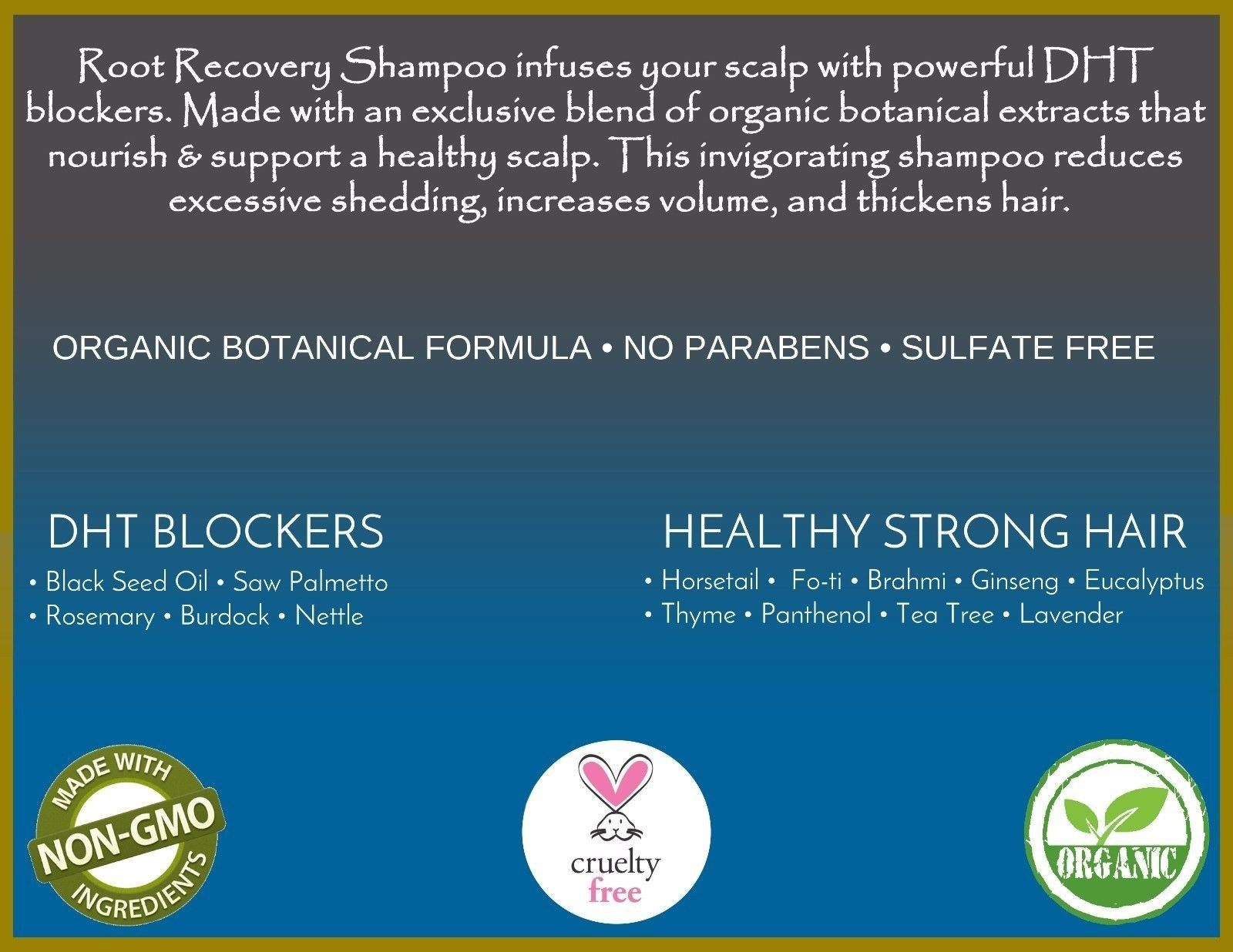 Root Recovery® Organic Follicle Stimulating Shampoo with DHT