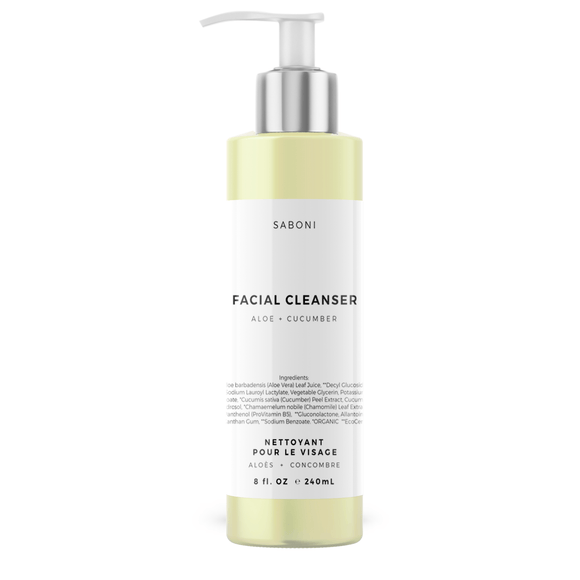 Organic Aloe and Cucumber Foaming Face Wash for Sensitive to Normal Skin