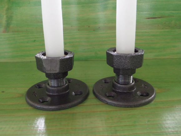Taper Candle Holders - Set of Two Cedar Creek Essentials Steampunk Decor-Cedar Creek Essentials