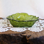 Leaf & Berry Embossed Glass Bowl