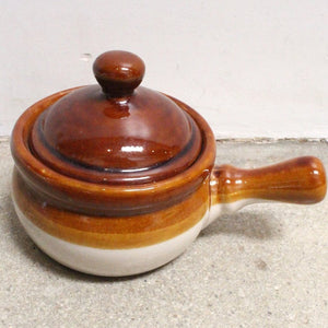 Small Ceramic Pot with Lid & Handle