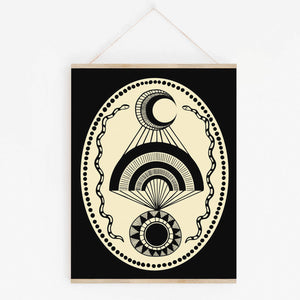 Native Bear - Moon Over Sun Art Print, 11x14