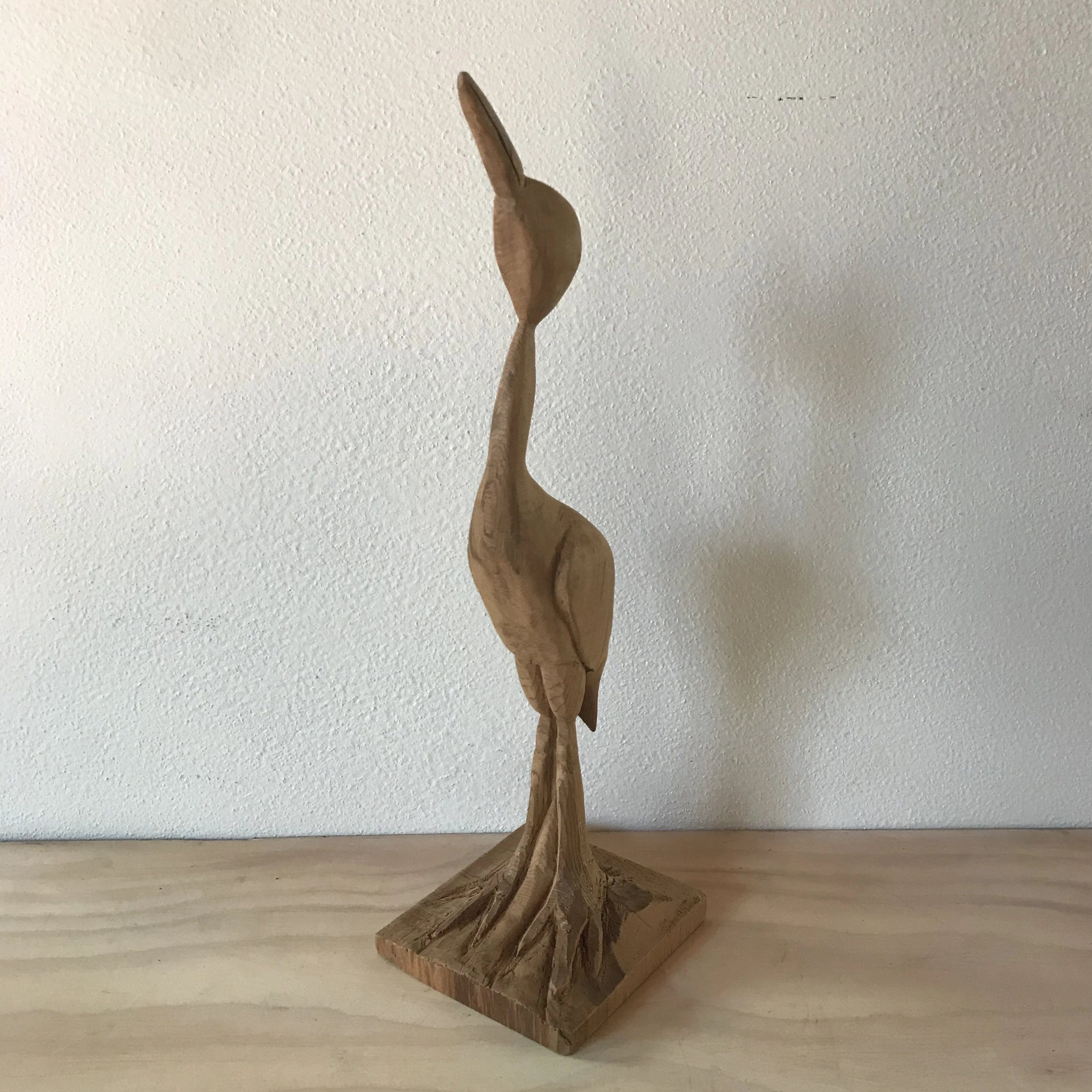Wood Hand Carved Pelican