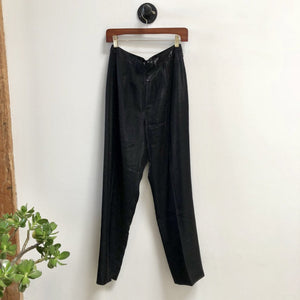 Vintage Silky Black Pants