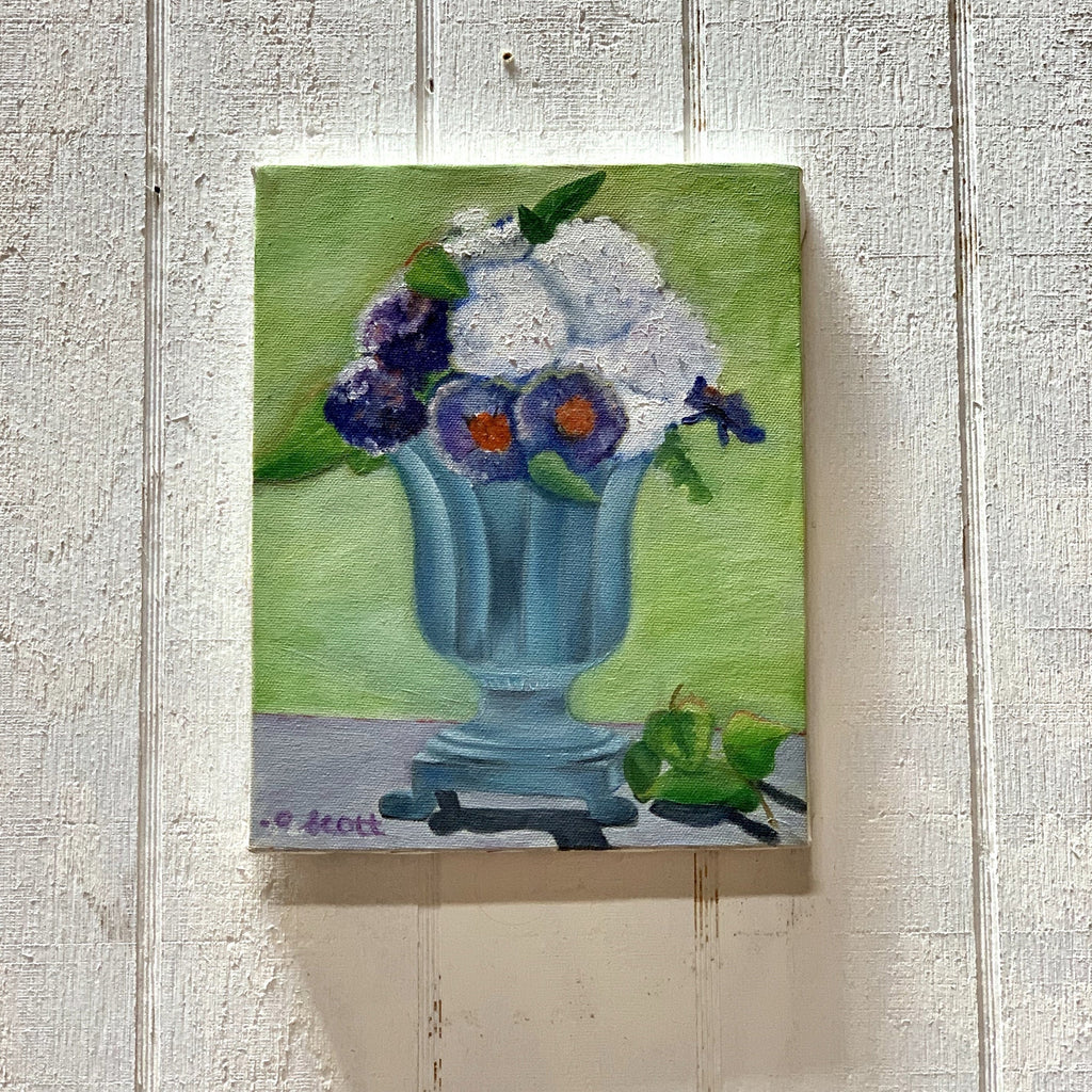 Blue Floral Bouquet Canvas Painting
