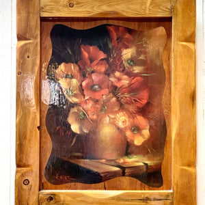 Large Wooden Frame Bouquet Painting