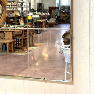 Giant Lead Glass  Heavy Wall Mirror