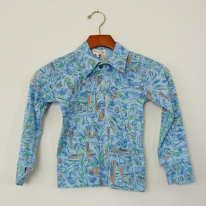 Vintage Long Sleeve Polo Shirt - Family Store