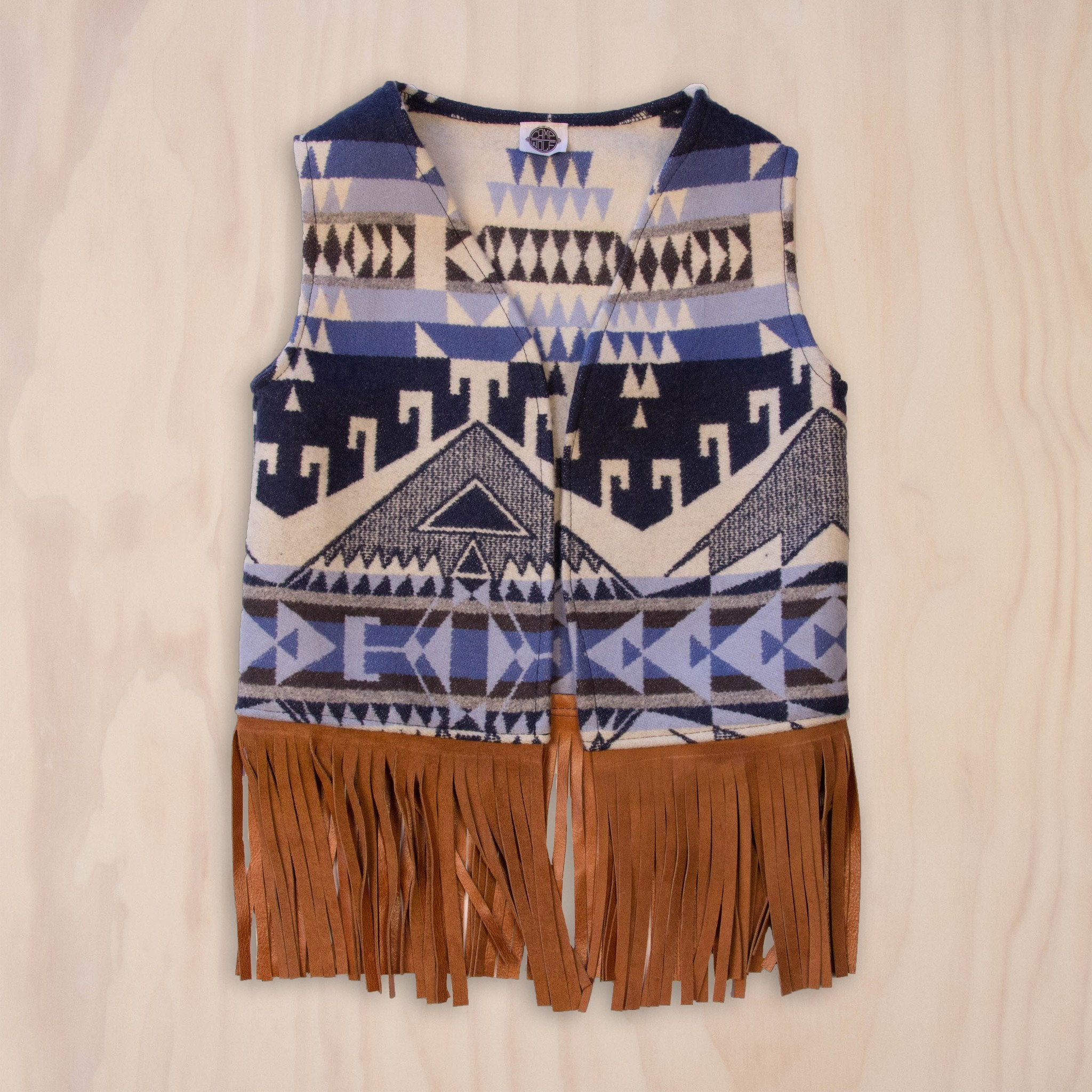 Wool Vest with Fringe
