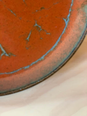 Burnt Red Ceramic Plate