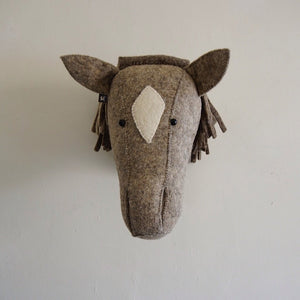 Natural Grey Horse Head