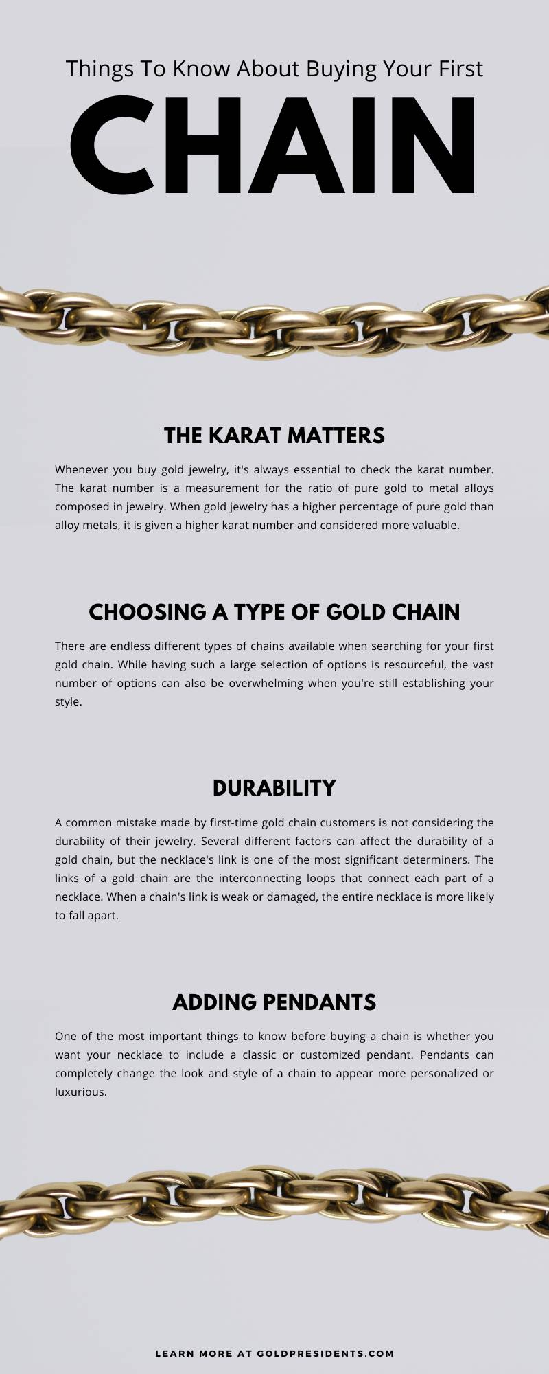 Things To Know About Buying Your First Chain