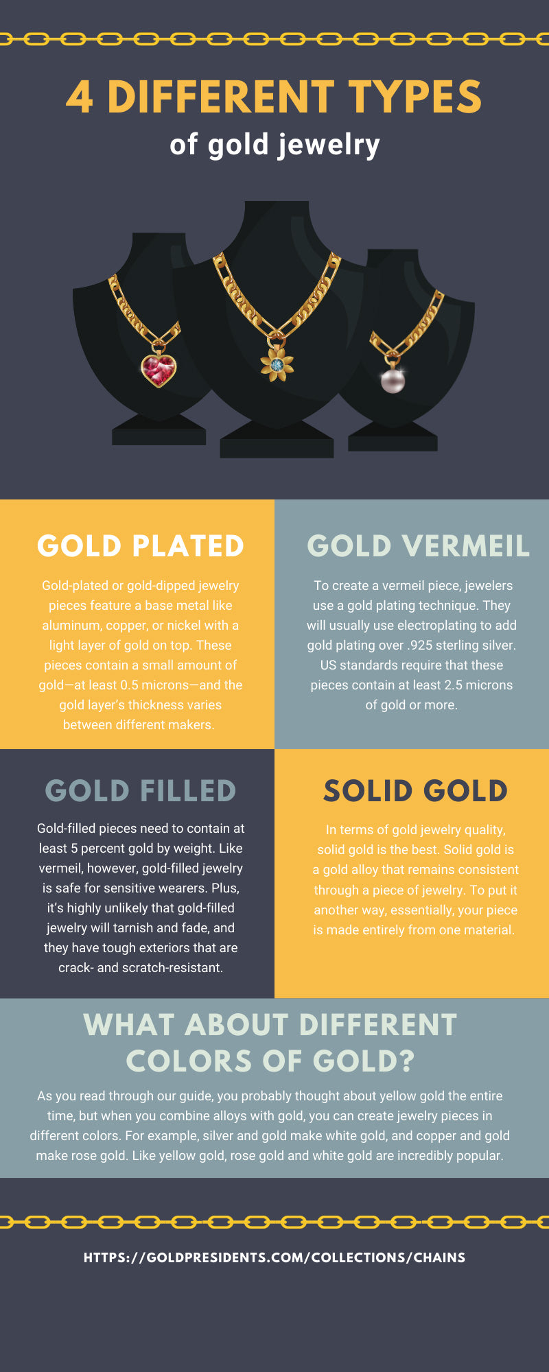 4 Different Types of Gold Jewelry