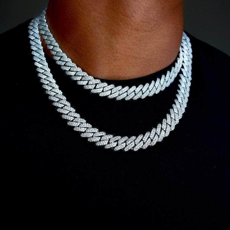 gold presidents chain bundle 14k white gold 18 22 14k white gold 18 22 diamond prong cuban link bundle 12mm in white gold 28567310827625 Coupon codes
