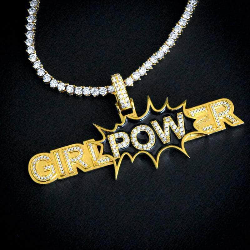 Gold Presidents Pendant Girl Power Pendant