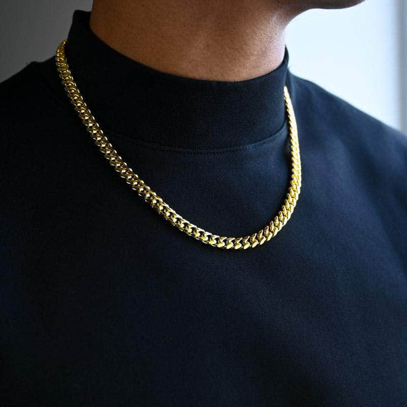 Gold Presidents Real Gold Chain 10K Solid Gold / 16 Solid Gold Miami Cuban Link 8mm