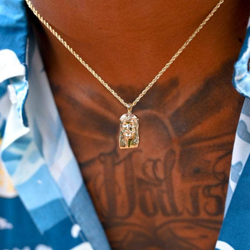 Pres Real Gold Chain 10K Jesus piece