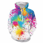Winter Ladies 3D Graffiti Paint Splat Hoodie