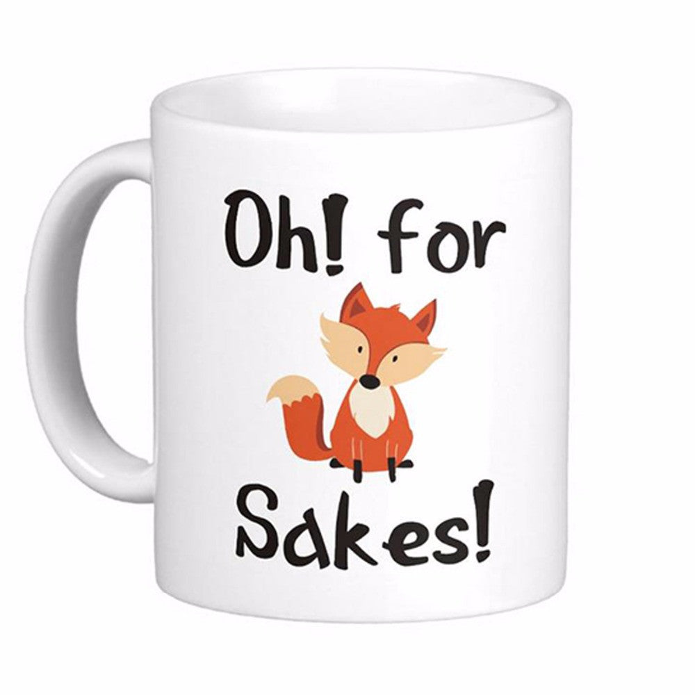 Oh For Fox Sakes White Coffee Mugs