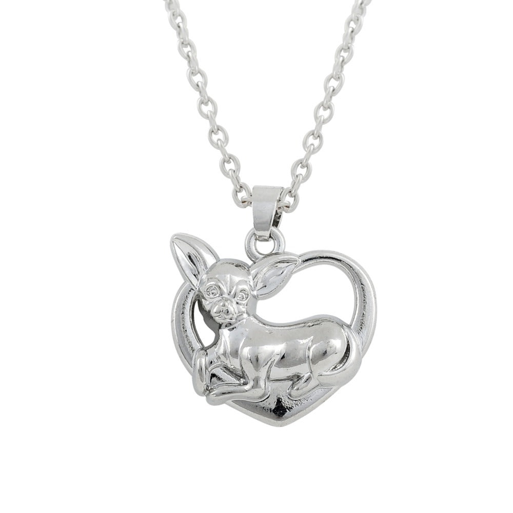 Chihuahua Charm Heart Necklace, GET IT FREE TODAY,JUST PAY FOR SHIPPING