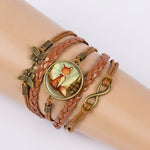 Red Fox Leather Bracelet