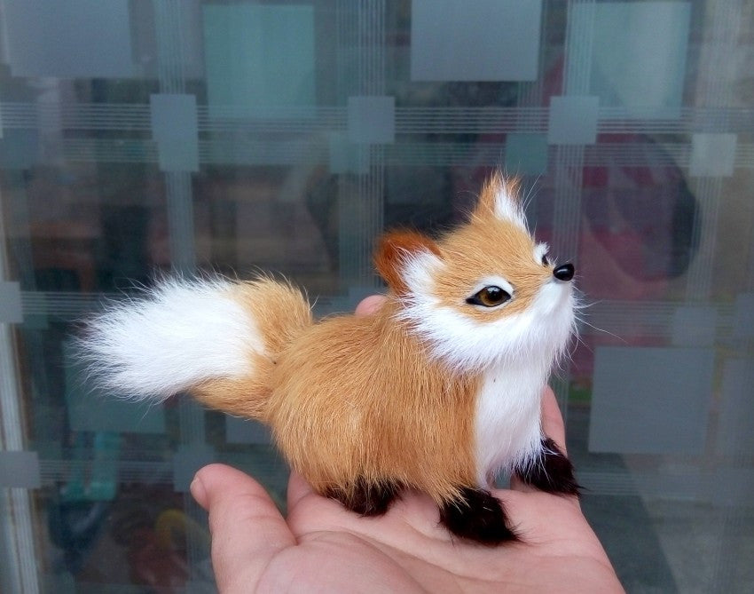 Fox Accessories Simulation Mini Lifelike Fox