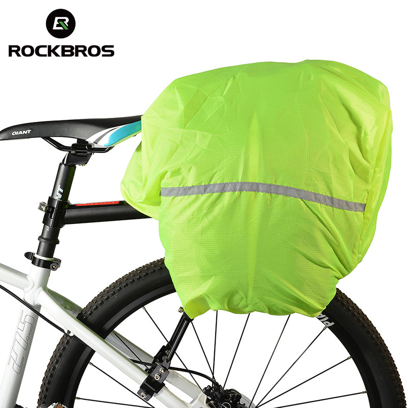 ROCKBROS Bicycle Luggage Bag Waterproof Cover Riding Bike Backpack Cover Protections Rainproof Nylon For Cycling Bag Pannier
