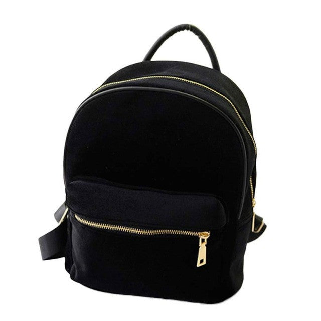Xiniu Women backpack Women Gold Velvet Small Rucksack Backpack School Book Shoulder  Bag #XTJ