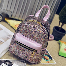 women backpacks leather 2017 School mini backpacks for girls Sequins Backpack for Ladies mochila feminina #0512YISI
