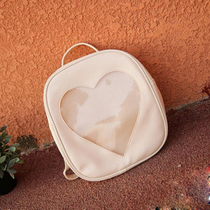 Xiniu Summer Candy Transparent Love Heart Shape Backpacks backpacks for teenage girls leather School Backpack Dropshiping #6M