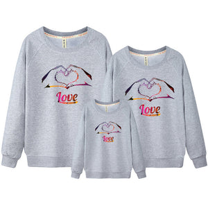 Boys & Girls Children Hoodies & Sweatshirts Kids Boys Clothing Set star Casual 100% Cotton Family Hoodie Sweatshirt Set DC322