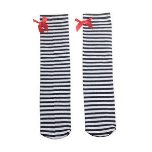 Children's Tights For Girls 1 Pair Girl Compression Stockings Cute Children Bowknot Cotton Blend Tights Over Knee Leg Covers