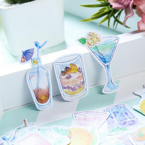 Summer Drink Ice Cream Decorative Stationery Stickers Scrapbooking DIY Diary Album Stick Lable