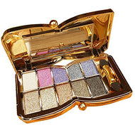10-Colors Shimmer Eye Shadow Makeup Palette Glittering Eyeshadow Pallete Set Color Combination for Big Eye Make Up