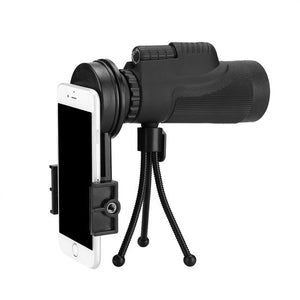 Universal HD 12X Phone Telescope Lens Phone Monocular Camera Lens with Tripod Phone Clip Telescope Observing Survey