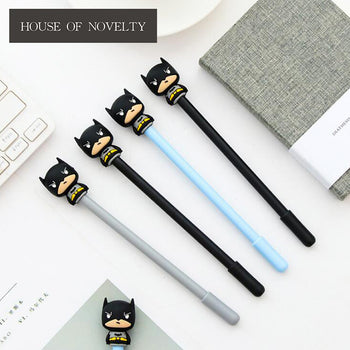 3 pcs/lot Novelty Super Hero Batman Gel Pen Ink Pen Promotional Gift Stationery School & Office Supply