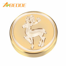ABEDOE Retro Brass Head Sealing Wax Stamp Heart Wedding Invitation Christmas Card Wax Seal Stamp with Wood Handle for Christmas