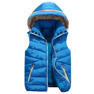 Removable Hoody Family Look Matching Mother Daughter Clothes Solid Vest With Hood Fashion  Outfit Winter Jacket Warm Coat 2018