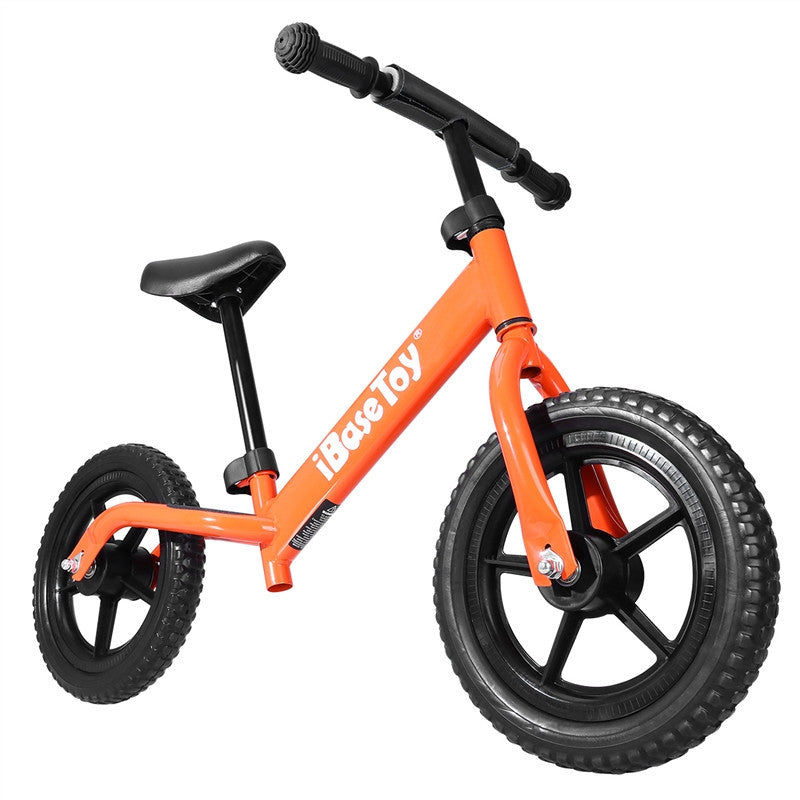 IBASE TOY No-Pedal Balance Bike for Kids Sport Walking Bicycle With Adjustable Handlebar
