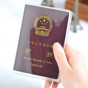 Clear Transparent Passport Cover management ID Card Travel Protector