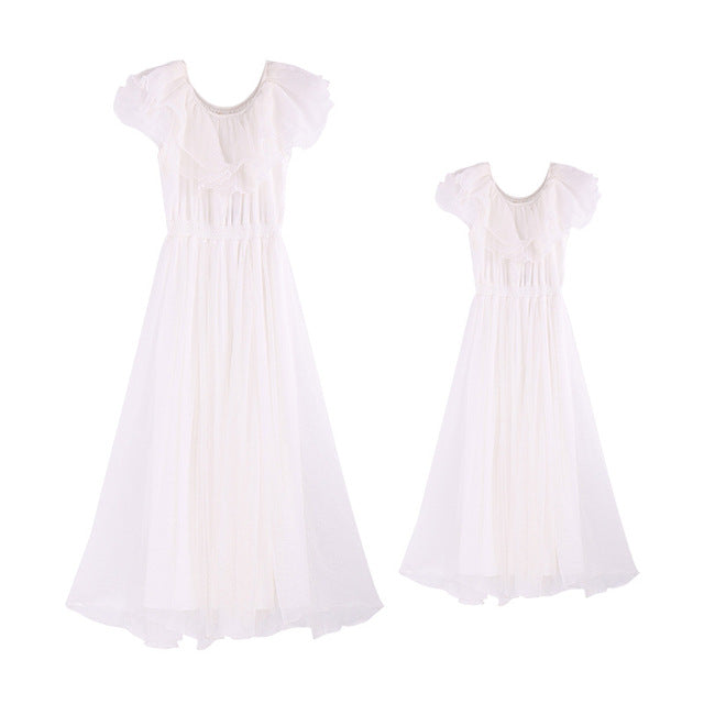 Family Look Mother Daughter Dresses Family Clothing 2018 Summer Style Family Matching Outfits Vestidos for Girls Women Dresses