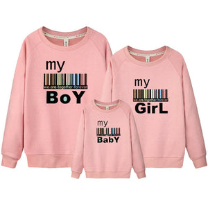 Father Mother Baby Clothing Father Mother Son Matching Outfits Set Autumn Winter Cotton Family Look Coat For Boy Children DC305