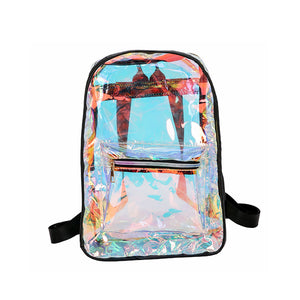 Transparent Backpack Casual Backpack Student School Daypack for Travel Caming