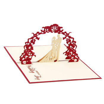 3D Pop Up Sweet Heart Love Laser Cut Wedding Gift Greeting Wishes Invitation Card with Envelope