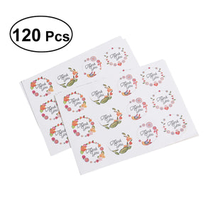 120pcs THANK YOU Adhesive Labels Decorative Sealing Stickers Decal For Wedding Party Gift Packaging Bake Decoration