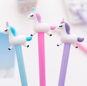 0.5 mm Jumping Unicorn Gel Pen Signature Pen Escolar Papelaria School Office Supply Promotional Gift